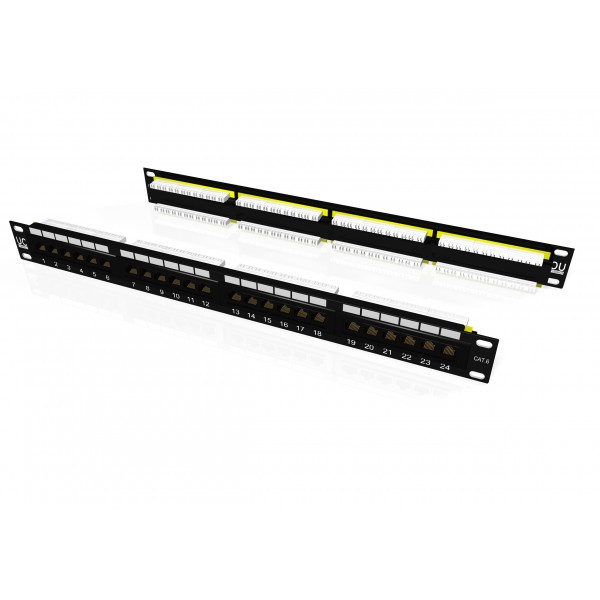 draka uc-connect cat6 utp 1u 24 port rear punch patch panel