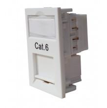 Trident Cat6 UTP Euro Module