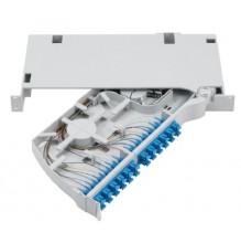 Prysmian 48 Fibre LC OM3 PSP Splice Shelf Configured with Pigtails and Adaptors