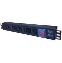 6 Way IEC C13 Horizontal PDU, 13A UK Plug