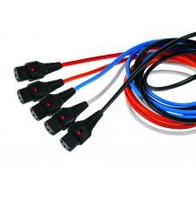IEC Lock C13 to IEC C14 0.5m Blue