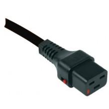 IEC Lock C19 to IEC C20 1m Black