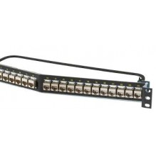 Ortronics Clarity Cat6a 24 Port Angled Loaded Keystone Patch Panel