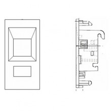 EUROMOD (50x25mm) Modular Outlet Insert for Faceplate