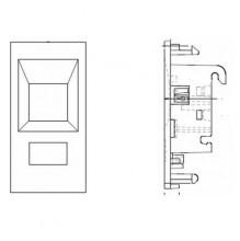 Belden EUROMOD (50x25mm) Modular Outlet Insert for Faceplate
