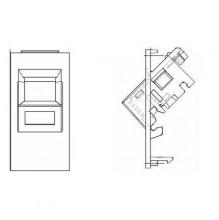Belden Angled EUROMOD (50x25mm) Modular Outlet Insert for Faceplate