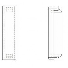 EUROMOD Qtr. Blank Insert, 50x12.5mm