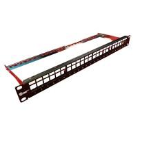 Trident Cat6a 1U 24 Port FTP Unloaded Panel