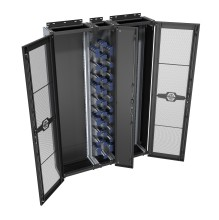 Huber Suhner CDR 1500 47U Black Perforated Doors