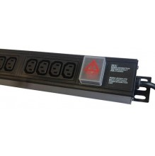 10 Way IEC C13 Vertical PDU, 16A Commando Plug