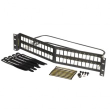 Ortronics Clarity Shielded Angled 48 port Unloaded Panel
