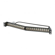 Ortronics Clarity CAT6a 24 Port Angled Panel with Individual Shielded Keystone Jacks