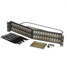Ortronics Clarity CAT6a 48 Port Angled Panel with Individual Shielded Keystone Jacks