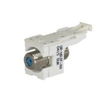 HDJ F-Connector F/F 75 Ohm White