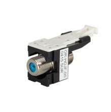 HDJ F-Connector F/F 75 Ohm Black