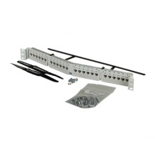 Clarity CAT6A 24 Port Angled Panel 110/6 Port T568A/B White