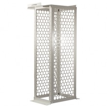 """Ortronics Mighty Mo 20 Rack 45U (7ft) 30"""" Channel Depth - White - 3/8"""" Square Hole"""