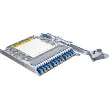 Huber Suhner LiSA 12 Fibre Splice Tray 12 SC OS2 Adapters