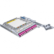 Huber Suhner LiSA 24 Fibre Splice Tray *12 LCD OM4 Adapters