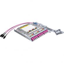 Huber Suhner LiSA 24 Fibre MTP8 Cassette *12 OM4 LCD Adapters