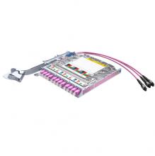 Huber Suhner LiSA 24 Fibre Right Side MTP8 Cassette *12 OM4 LCD Adapters